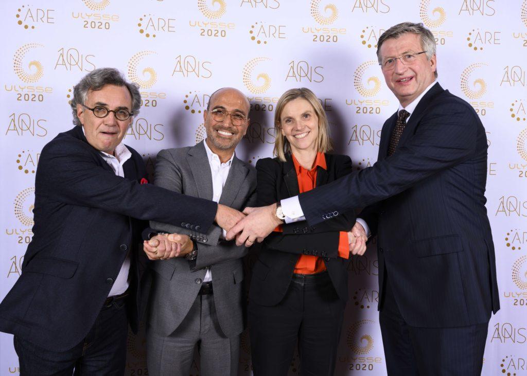 Alain Boitiaux (Grain de Malice), Patrick Krief (Canal Toys), Mme la Secrétaitaire d'ETat, Agnès Pannier-Runacher, et Peter Poortinga (Duc)